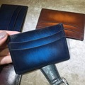 TERSE_10 Colors patina card holder leather handmade mans womens name card id card wallet top real leather bespoke service