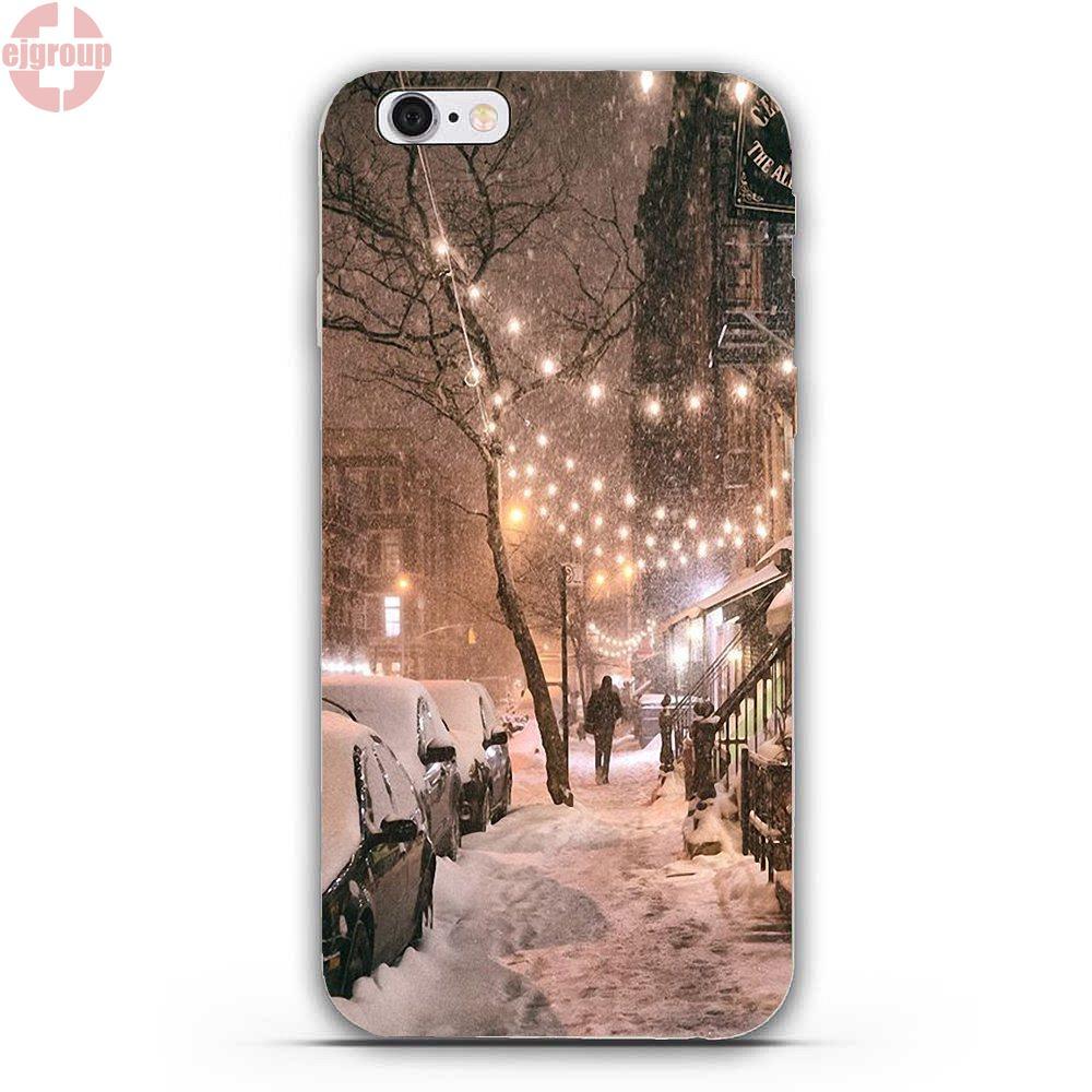 EJGROUP Мягкие TPU кремния Книги по искусству чехол Нью-Йорк город Ny Декорации для iPhone 4 4S 5 5C SE 6 6 s 7 8 Plus X