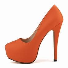 Sexy 14Cm Ultra High Heels Platform Pumps Solid PU Leather Ladies Slip On Party Dress Shoes Night Club Pumps Shoes NLK-C0008 стоимость