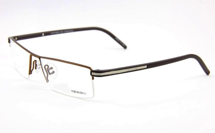 100% diseñador por encargo gafas de TITANIO montura completa Marrón ...
