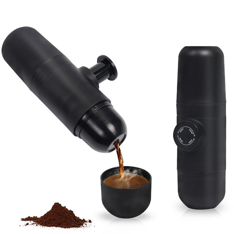 Mini Coffee Machine Hand Held Coffee Maker Portable Espresso Manually handheld Coffee Machine Pressing For Home Office Travel mini sport coffee machine the hand powered portable espresso machine with high quality powder vesion
