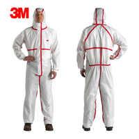 3 Mt 4565 Chemische Einweg Schutzanzug Schutzkleidung Schutz Anzug Gegen Chemikalienspritzer LT104
