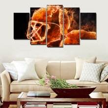 Abstract Wall Art Canvas Print Fire American Football Player Poster Painting for Dining Room Home Decor Dropshipping