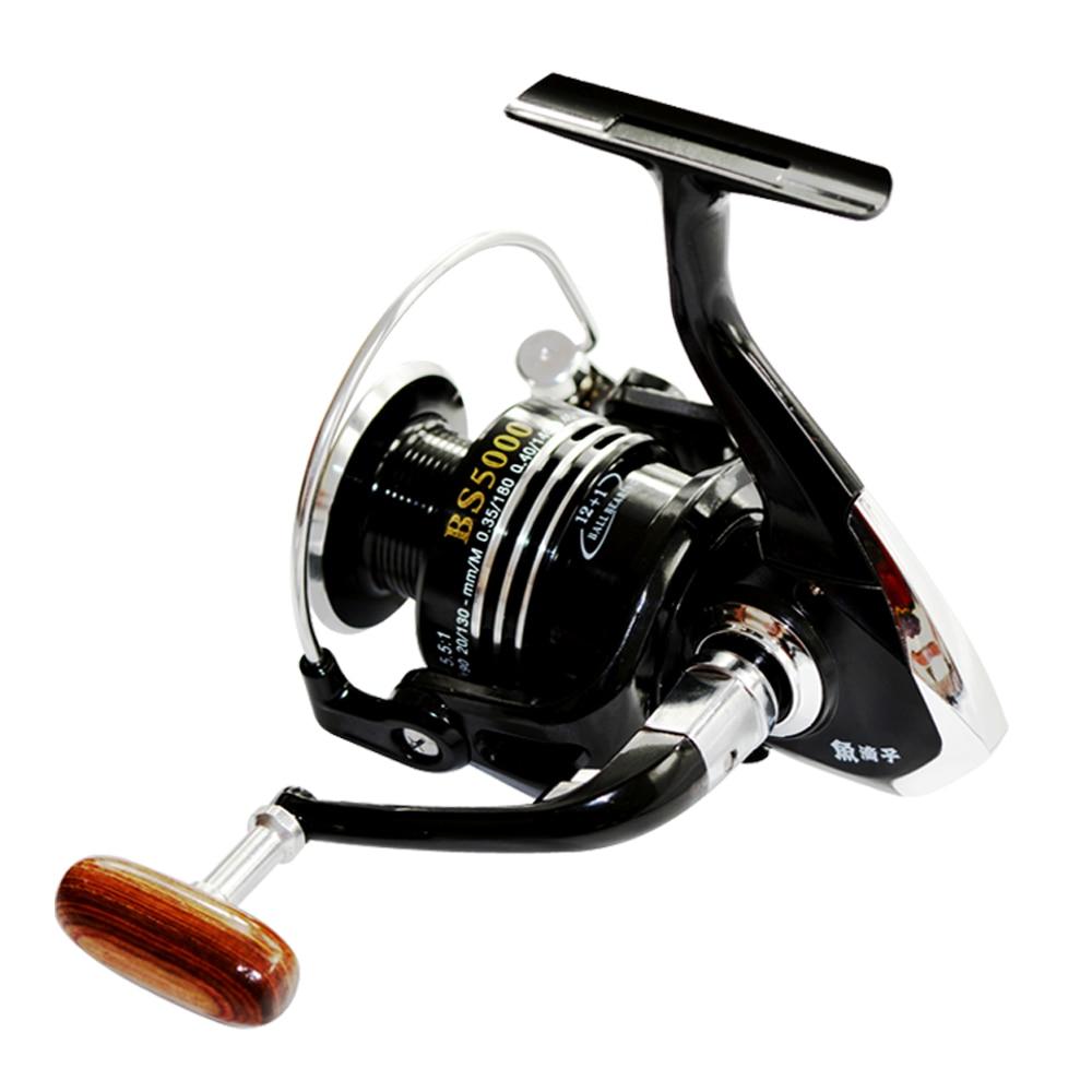 Спиннинговая Рыболовная катушка Fishdrops 13BB, рыболовное колесо для карпа, спиннинговые Катушки Pesca, Передаточное отношение 5,5: 1