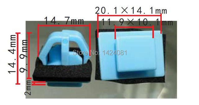 50x Oem Side Moulding And Door Trim Clips For Hyundai