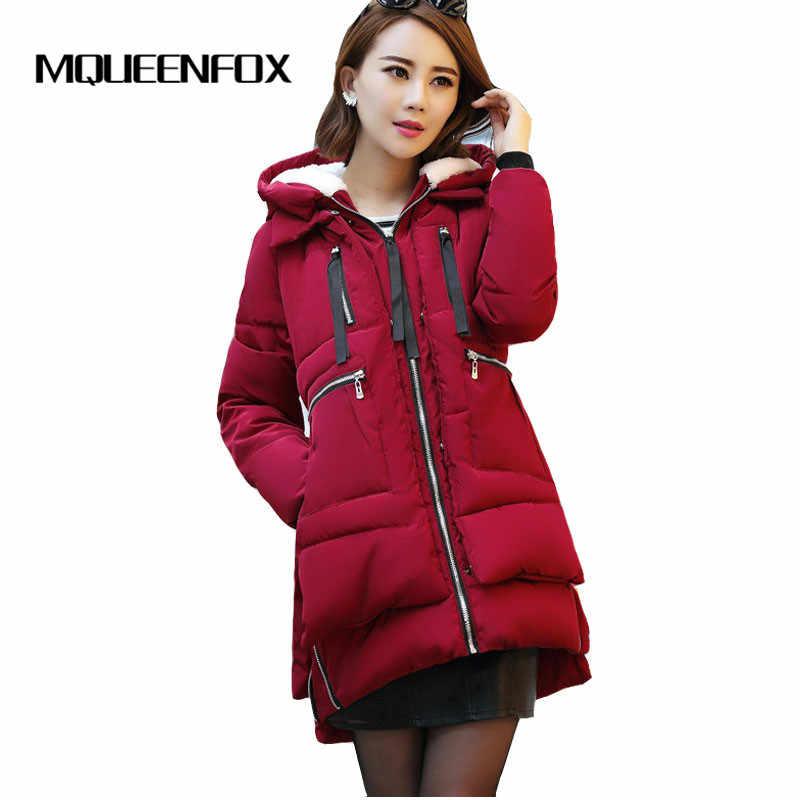 Veste d'hiver femme 2019 nouveau coton veste Parkas veste mode femme dames manteau grande taille M-5XL