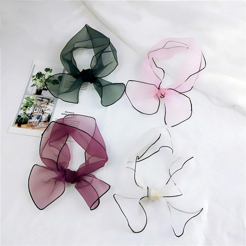 El nuevo organza de color sólido pequeño párrafo corto pañuelo - Accesorios para la ropa - foto 1