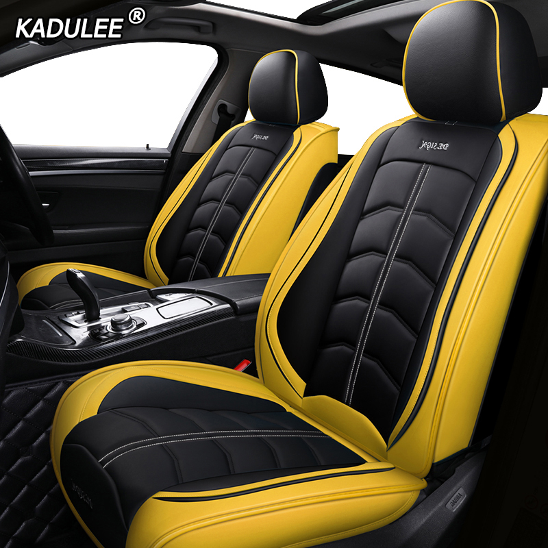 KADULEE luxury leather car seat cover for fiat 500x panda 500 marea palio grande punto stilo