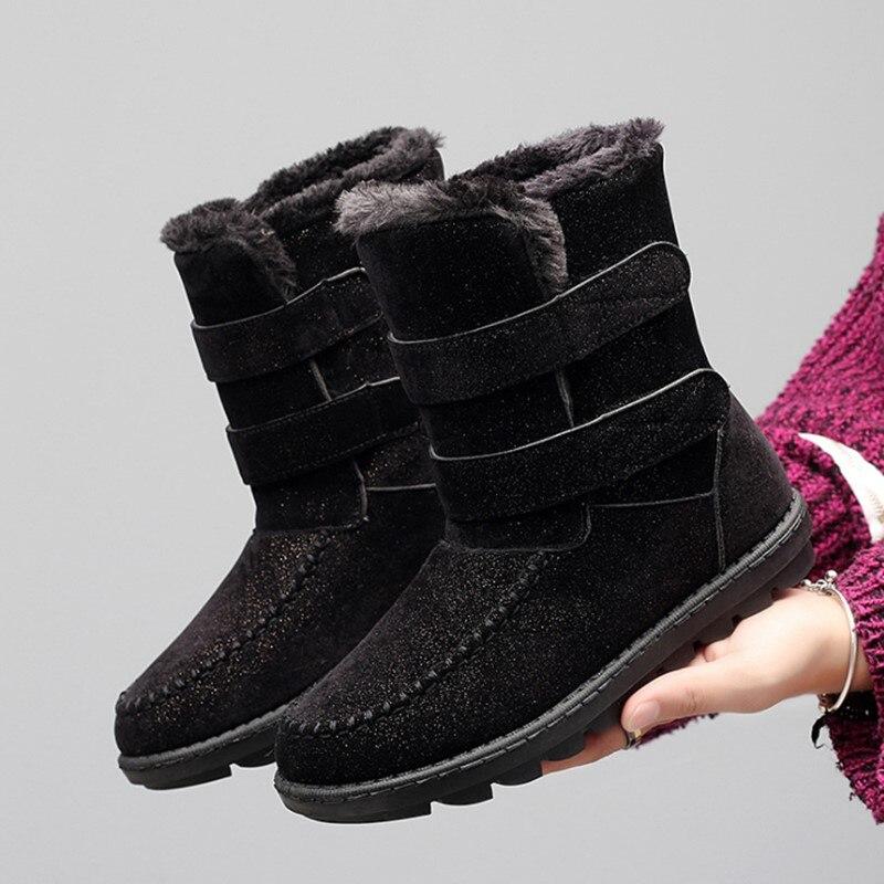 Stivali 3 Fashio Americano Velluto Cotone Nero Di Inverno Delle Scarpe blu  Donne brown Cm Neve Femminile Impermeabili Più 2018 Da ... 11c89c48711