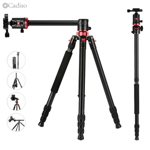 Image 1 - Cadiso M8 Professional Portable Video Horizontal Tripod Monopod with Quick Release Plate 360 Degree Ball Head for DSLR Camera