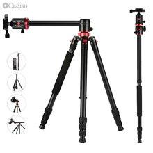 Cadiso M8 Profesyonel Taşınabilir Video Yatay Tripod Monopod Quick Release Plaka ile 360 Derece Topu Kafa DSLR Kamera için