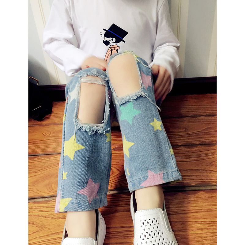 fashion-jeans-for-girls-boys-trousers-star-print-hole-ripped-denim-jeans-for-kids-spring-autumn-loose-pants-toddlers-baby-jeans-1