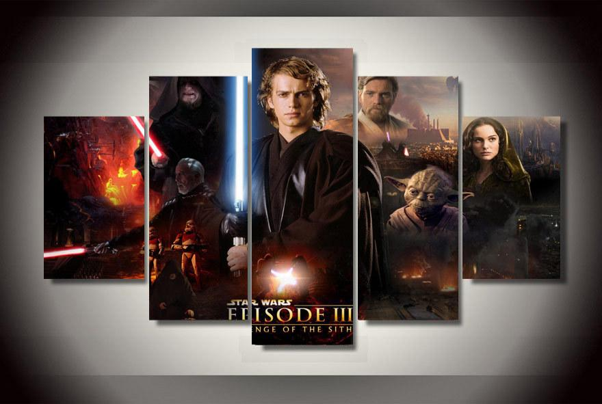 Star Wars HD Art Poster Oil Painting Canvas Printed Home Decorative Paintings 3P