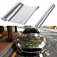 цена на Silver Auto Car Styling Body Electro Coating Change Color Film Chrome Plating Mirror Vinyl Wrap Electroplate Sticker Decal Sheet