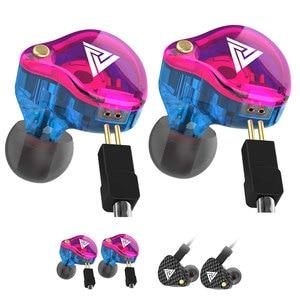 Image 5 - QKZ VK4 écouteur 3.5mm filaire écouteurs Sport HIFI basse suppression de bruit dans loreille casque détachable câble écouteur