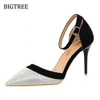 Women Shoes High Heel Autumn Spring Fashion Sexy Hollow OutSequins High Heels Wedding Dress Shoes W0923