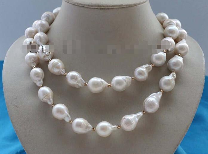 Genuine Natural 20mm White Baroque Reborn Keshi Pearl Necklace #f2133! NEWGenuine Natural 20mm White Baroque Reborn Keshi Pearl Necklace #f2133! NEW