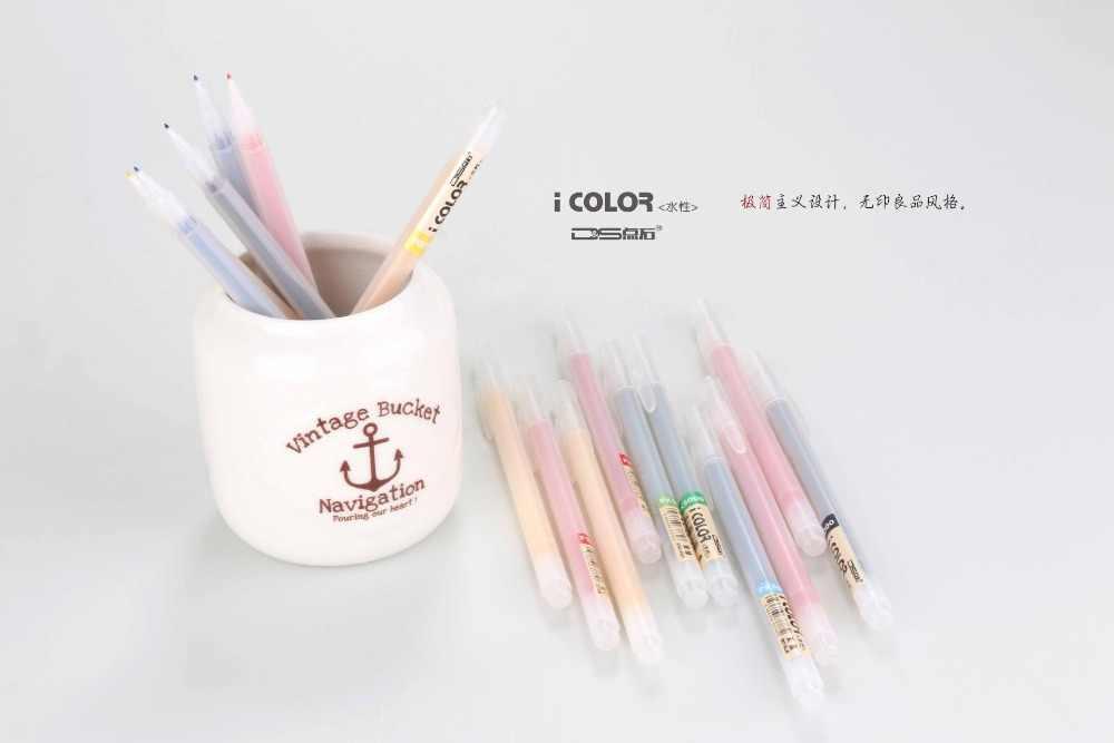 12PCS KOREA STONE POINT Gel Pen 12 Colored Fibers Gel Pen Minimalist Design Gel Pen /Set