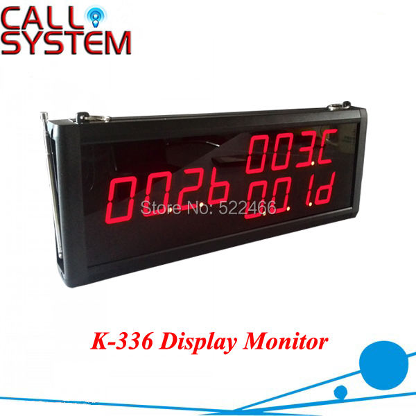 Restaurant Coffee Bar Wireless Calling Monitor System K-336 Waiter Service Paging System wireless call calling system waiter service paging system call table button single key for restaurant model p 200cd o1