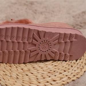 Image 5 - 2020 نعال تدفئة النساء أحذية الشتاء بووتي أفخم داخل متعطل السيدات داخلي المنزل النعال Pantuflas السيدات الانزلاق على الأحذية