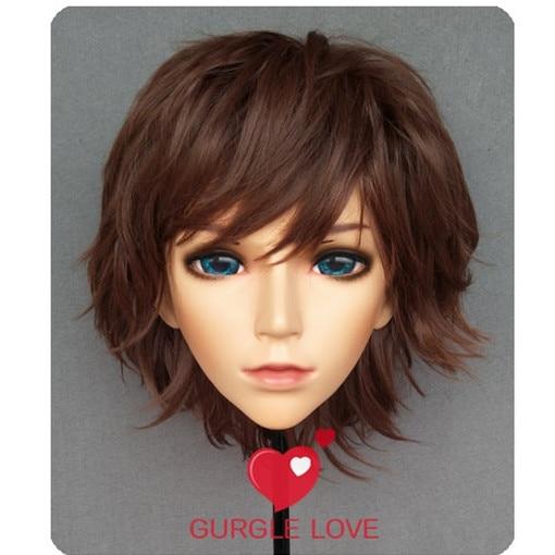 (NEW-07) Handmade Female Male Resin Crossdress Pretty Girl BJD Masks Japanese Anime Cosplay Kigurumi Mask