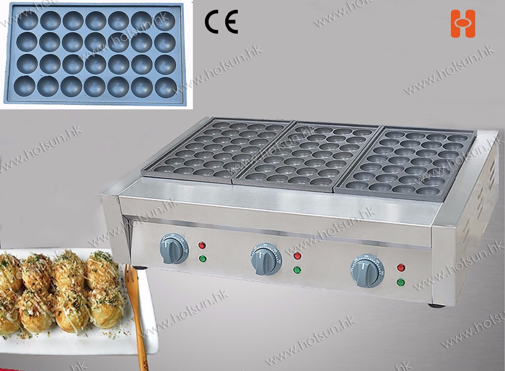 Commercial Use Non-stick 110V 220V Electric Japanese Octopus Fish Ball Iron Takoyaki Maker Baker Machine free shipping commercial non stick 110v 220velectric 16pcs 4cm japan octopus ball takoyaki grill baker maker machine