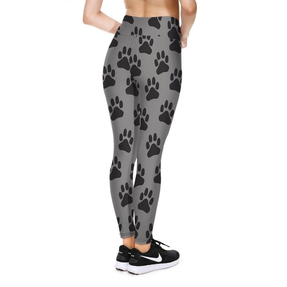 Neue Welpen Hund Fußabdrücke 3D Drucke V Hohe Taille Fitness Workout Push-Up Frauen Leggings Schlank Sexy Weibliche Bleistift Hosen