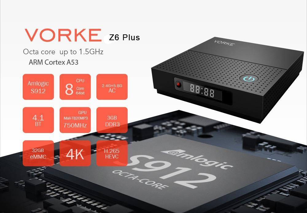VORKE Z6 Plus KODI 17.4 Android 7.1.2 Smart TV BOX VORKE Z6 Plus KODI 17.4 Android 7.1.2 Smart TV BOX HTB10IjlgjlxYKJjSZFuq6yYlVXak