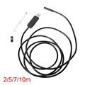 XCSOURCE 7mm 2M/5M/7M/10M 0.3MP USB Waterproof Tube Endoscope 6 LED Borescope Inspection Camera for iMac for Macbook BI328-331