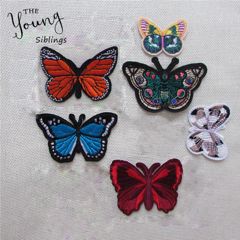 hot Mixed butterfly Patch For Clothing Iron On Embroidered Appliques DIY Apparel Accessories Patches For Clothing Fabric Badges
