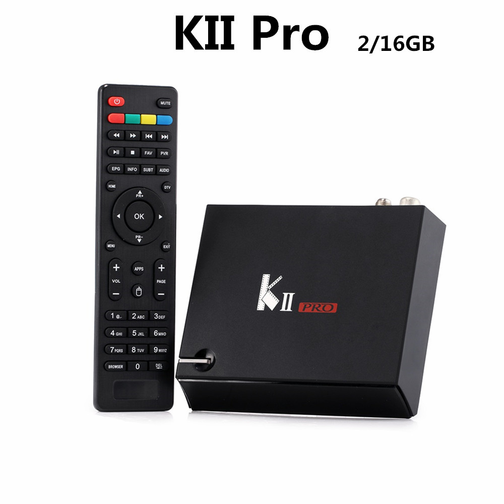 KII Pro Android TV Box 2GB 16GB DVB S2 DVB T2 Kodi Pre installed Amlogic S905