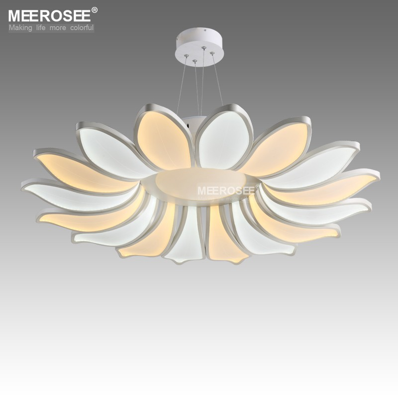 Creative Led Ceiling Lights Fixture Modern 16 Petals Flower Acrylic Led Lamp Lustres Dining Living Room Lamparas De Techo Light