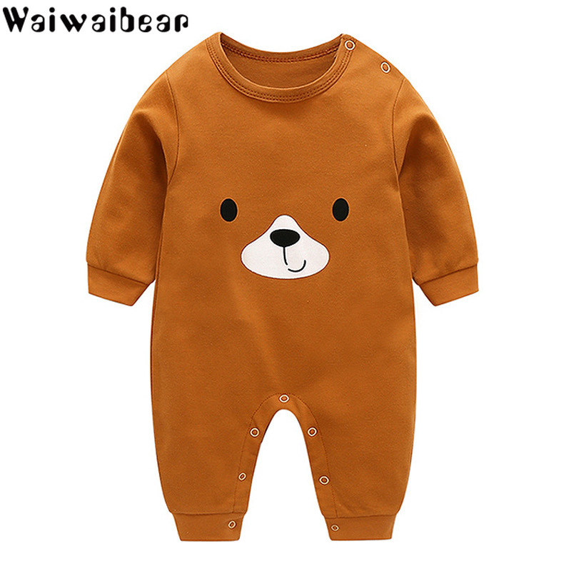 Waiwaibear Baby Girl Clothes Infant   Rompers   Boys&Girls Long-Sleeved   Rompers   Cartoon Infant Jumpsuit Baby Toddler Clothes Baby