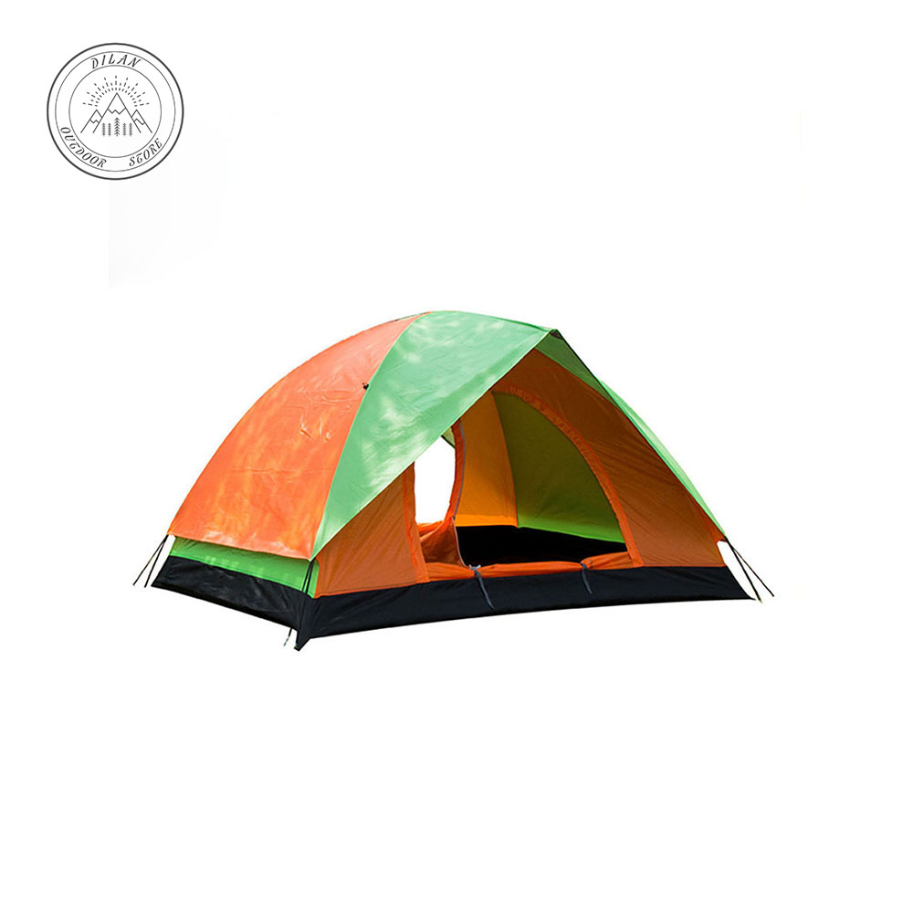 1-3 Person ultralight tent Double layer water resistance Double door Camping and recreational rain shelter Outdoor tent Portable image