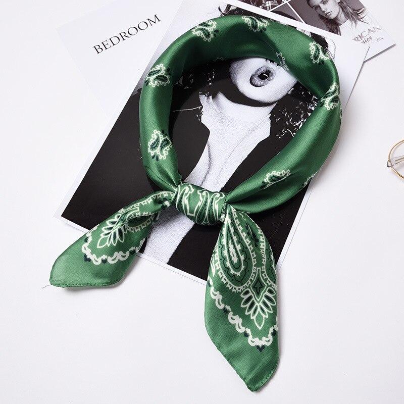 70*70cm High Quality Elegant New Women Retro Style Floral Print Square Scarf Imitate Silk Scarf 35 Styles Head Scarf Hair Tie