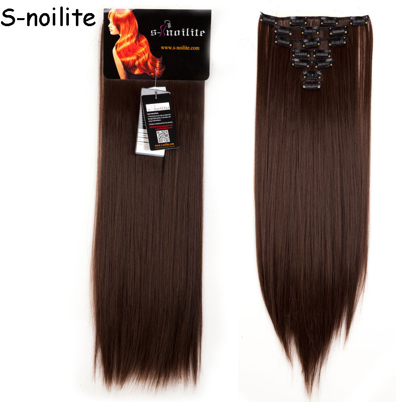 8 Piece Long Striaght Full Head Weft Clip In Hair