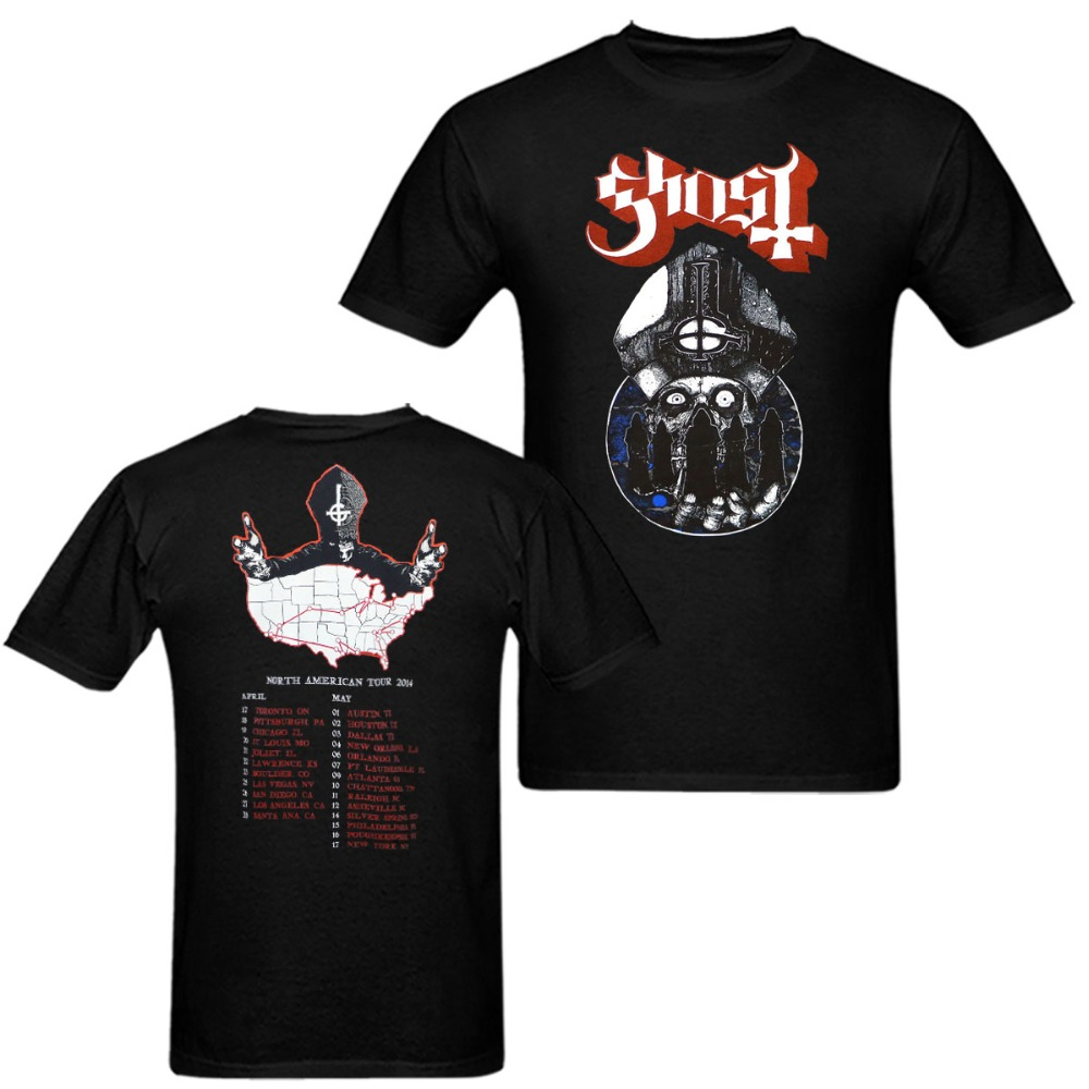 GHOST Band Warrior North American 2014 Tour T Shirt Man and Women Tee euro sizeS-XXXL