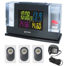 RF Wireless 433Hz RCC DCF Weather Station Kit Indoor Outdoor Hygro-thermometer Digital Clock Remote Transmitter