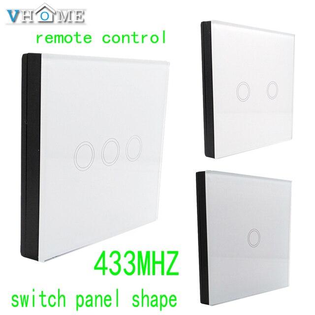 240vhome RF 433 MHZ אלחוטי זכוכית פנל שלט רחוק, מתג שליטת צורת עבור מגע מתגים, דלתות מוסך, חשמלי וילונות
