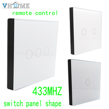 Vhome RF 433MHZ wireless Glass panel remote control,Switch shape control for Touch switches, garage doors, electric curtains