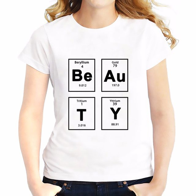 Online shop creative periodic table of the elements beauty t creative periodic table of the elements beauty t shirts women new tee shirt femme white casual tshirt genius t shirts urtaz Images
