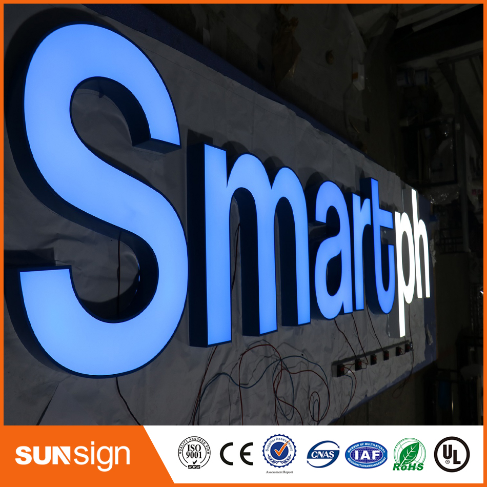 Outdoor Custom 3d Advertising Acrylic Led Fronlit Letters Channel Sign
