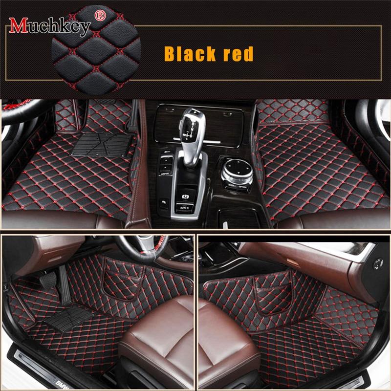 Car floor mats for Suzuki Kizashi Jimny Ignis Grand Vitara car accessories car styling Custom Black red коврики для авто(China)