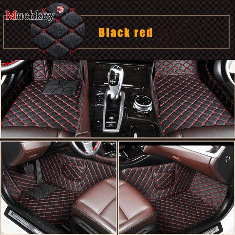 Tapis de sol de voiture pour Cadillac ATS CTS SRX Escalade auto accessoires voiture style personnalisé auto tapis noir rouge