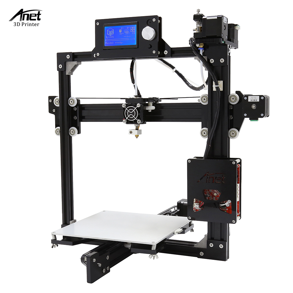 Easy Assemble DIY 3D Printer Kit Anet A2 3D Printer 12864LCD & 2004LCD Printing Size 220*220*220mm/220*270*220mm anet a2 metal lcd2004 220 220 220 220 270 220mm option 3d printer diy prusa i3 3d printer kit with free 10m filaments