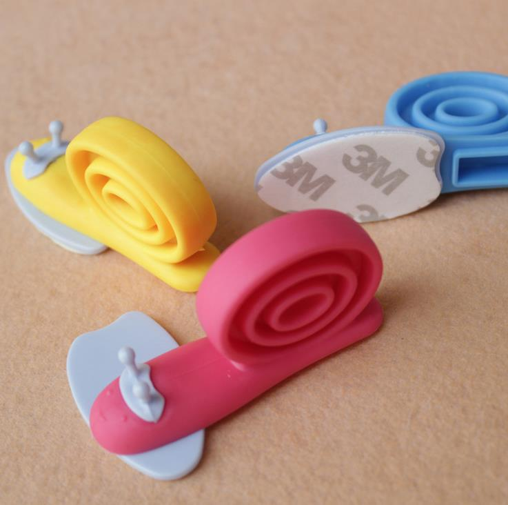 bear Care Cute Colorful Cartoon Snail Baby Helper Door Stopper Holder Lock Safety Finger Protector 12 pcs/lot