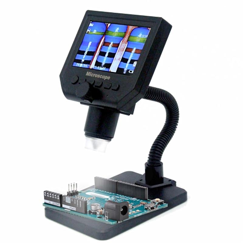 Newest G600 600X HD 3 6MP 8 LEDs Portable LCD Digital Microscope 4 3 Electronic HD
