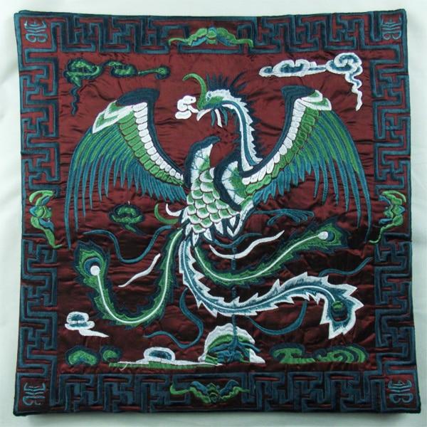 Вышивка Феникс декоративная Рождественская наволочка для подушки 43x43 см диван подушка на спинку стула винтажная китайская наволочка