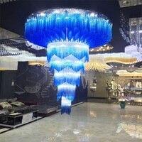 Синий кристалл проекта светильник потолочный светильник роскошный отель клуб кристаллический свет. Поддержка обычай делать