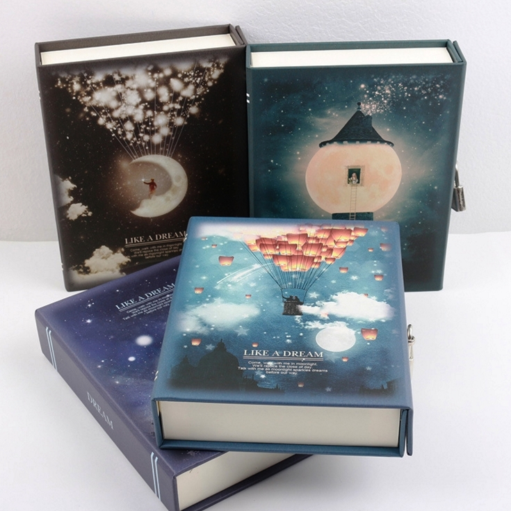 ''Like a Dream'' Diary with Lock Notebook Cute Functional Planner Lock Book Dairy Journal Stationery Gift Box Package
